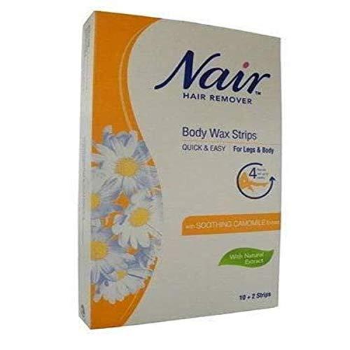 Nair Body Wax Strips, Pack Of 12