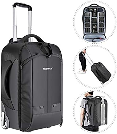 Neewer Convertible Rolling Camera Backpack for SLR/DSLR...