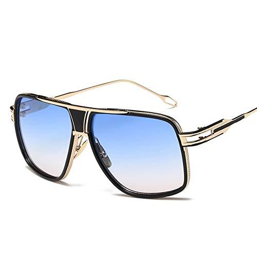 Zgywmz Zonnebril Mannen Vrouwen Legering Grote Frame Bril Dames UV400 Blauw Zwart Zonnebril Man Distaff Oogkleding