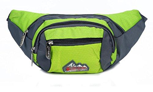 ZYT En nylon sport plein air voyage petites poches poitrine poches sac sacoche 10 pouces pour les hommes et les femmes . green