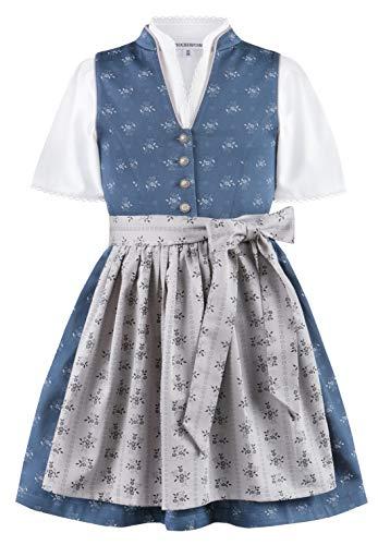 Stockerpoint Mädchen Kinderdirndl Amalie jr. Kleid für besondere Anlässe, dunkelblau-grau, 122-128