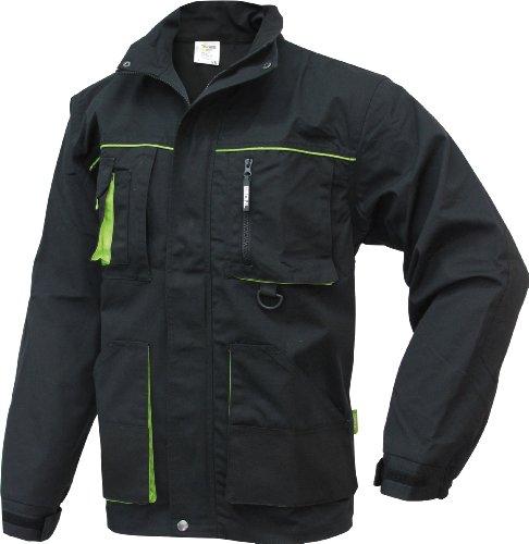 TRIUSO Power Winterjacke mit abnehmbarer Kapuze in schwarz-grün in Größe XL