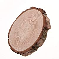aeso キーホルダーギフトゲストブック用の天然木ワッシャー素朴な木製ディスクスライス