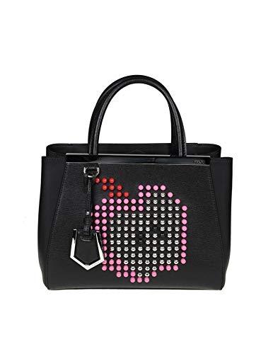 Fendi Luxury Fashion Donna 8BH25367LF0767 Nero Pelle Borsa A Mano   Stagione Outlet