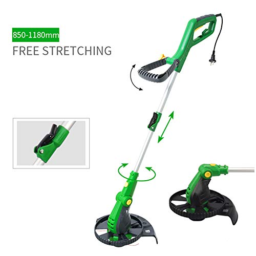Best Prices! Hfoobsa 800W Electric Grass Trimmer,The Head is Adjustable by 90° Telescopic Lightweig...