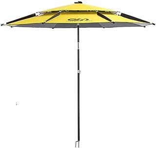 YLLN Parasol/2.4 m Double-Layer Fishing Umbrella 2.2 m Universal Rainproof Sunscreen Thickening Black Plastic Super Light Fishing Umbrella Parasols
