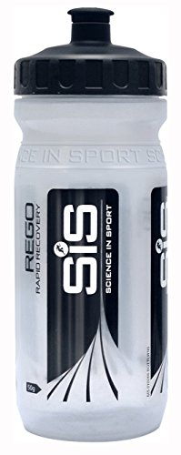 SIS Wide Neck Clear Brand Bottle ClearBlack 600ml