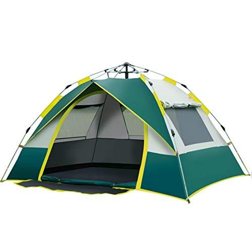YFFSBBGSDK Campingzelt 1-4 Personen Automatisches Campingzelt Praktisch für Familienrucksack Camping Angelzelt