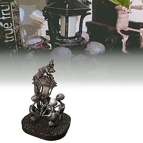 LED Skull Light Sculptural, Lámpara de Mesa de Escritorio con Forma de Calavera, Resina de decoración de Halloween 4 lámparas de Calavera, para la decoración del Bar de la Sala de Estar, decoración