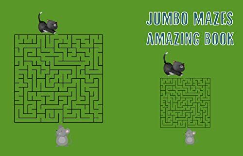 Jumbo Mazes For Kids Amazing Book: Maze Activity Book For kids The Best Grow-Brain For kids