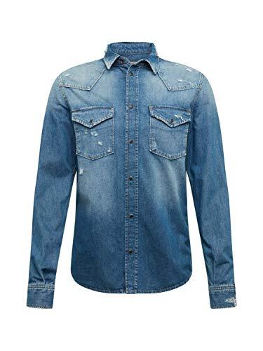 Pepe Jeans Herren Hemd NOAH blau XL