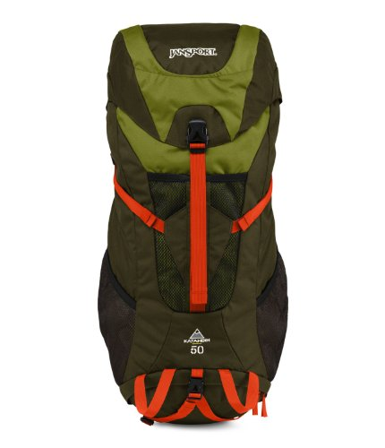 JanSport Katahdin 50L Backpack - Green Machine/Jamaican Green / 29.5'H x 9'W x 14.5'D