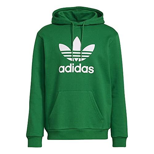 adidas Sudadera con capucha con trébol. verde, blanco XL