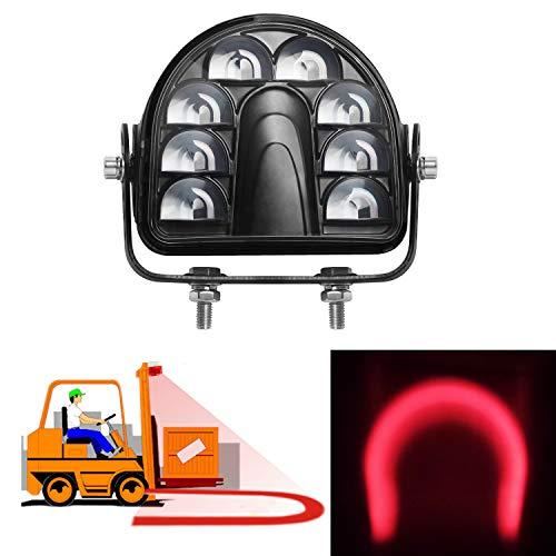 ONERAY Forklift Safety Light Red Arc LED Warning Light Warehouse Pedestrian Warning Arch Zone Spotlight 20W DC10-80V for Truck Security Indicator Spotlight Brightness (New)