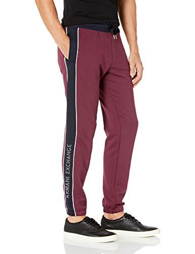 Armani Exchange Pants6HZPAA Pantalones de chándal, Grape Wine Navy, XXL para Hombre