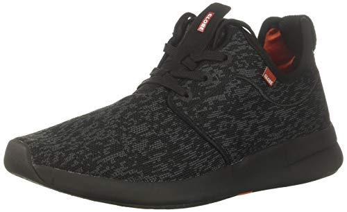 Globe Men's Dart LYT Skate Shoe, Black/Grey Knit, 5 M US