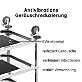 BPT Edelstahl Servierwagen mit 3 Böden Partition Küchenwagen 200KG,Restaurant Hotel Schul Servierwagen - 4