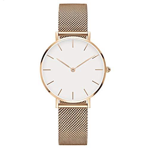 Chenhan Mode Uhren Mode Luxus Frauen Uhr Edelstahl Quarz Armbanduhr für Frauen (Color : C)