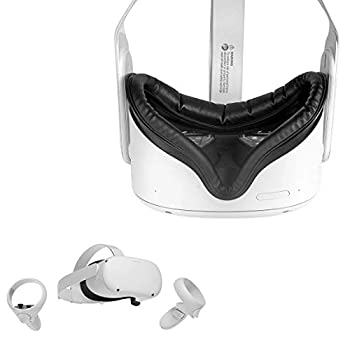 Wasserstein Face Cover Compatible with Oculus Quest 2 - Soft & Sweat-Proof Great for Long Hours of VR Gaming