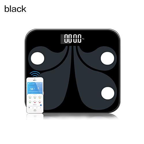 ZKYXZG Personenwaage Bluetooth-Körperfettwaage USB-wiederaufladbare intelligente digitale Personenwaage mit Smartphone-App Drahtlose BMI-Waage, grün