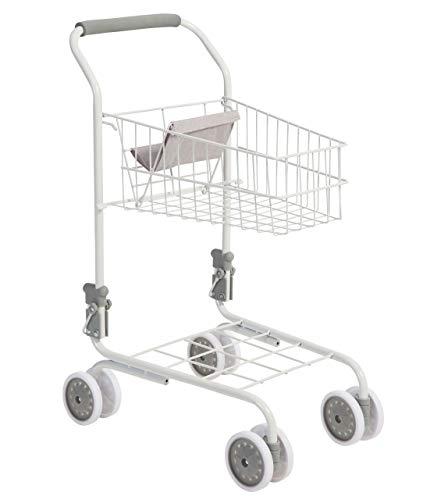 Bayer Chic 2000 Supermarkt Einkaufswagen aus Metall für Kinder (Weiß-Grau)