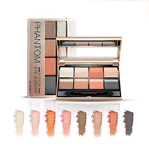 Tiefe Augen Make-up 8 Farbe Lidschatten wasserdicht und schweißfest Schönheit Erde Farbe...