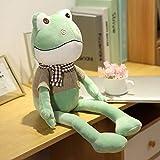 N / A Neuer 38cm Frosch mit Schal Plüschtier Weich Gefüllte Cartoon Tiere Puppe Kinder Begleiten...