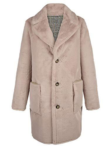 Alba Moda Damen Mantel mit Reverskragen in Grau von beiden Seiten tragbar