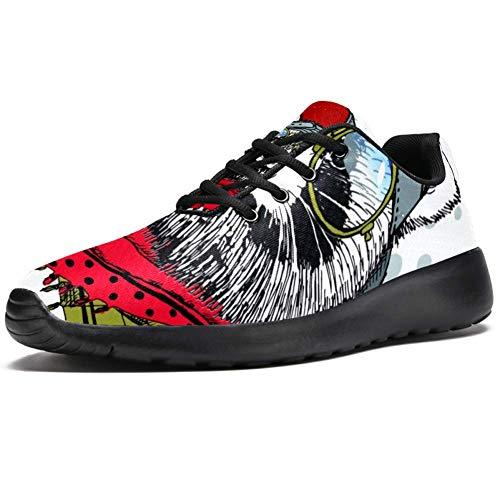 TIZORAX - Zapatillas deportivas para hombre con gorro de cristal, bufanda de...