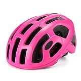 Casco Bicicleta Yuan Ou Casco de Bicicleta de Carretera día de Carreras Casco de Ciclismo de montaña triatlón Aero Hombre Mujer Cascos de Bicicleta Rosa