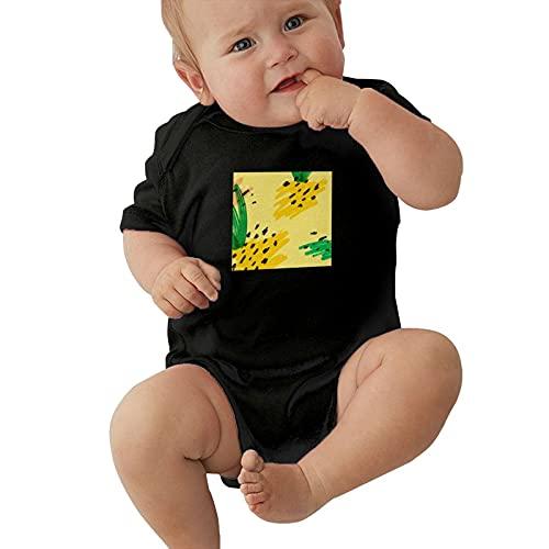 Inaayayi Enterizo de bebé colorido acuarela piña tropical fruta arte bebé bodysuits unisex para bebés