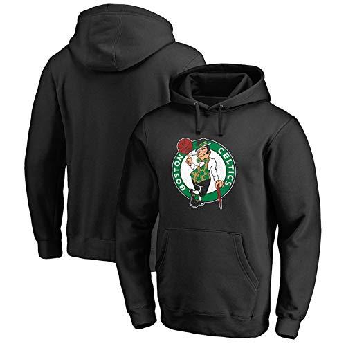 VBSD Celtics - Sudadera con capucha para hombre y mujer con capucha para hombre y mujer, cómoda y casual de manga larga con capucha de microforro polar negro-S
