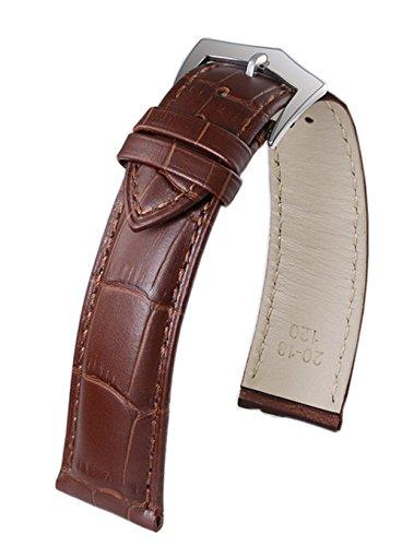 20 mm de Gama Alta de Cuero marrón Correa de Reloj Primera Capa de Piel de Vaca Escalas rectangulares Broche alfiler de Oro Artesanal Ingenioso