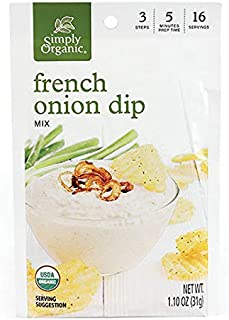 Simply Organic French Onion Dip, Certified Organic, Gluten-Free | 1.1 oz | Pack of 3