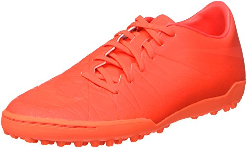 Nike - Hypervenom Phelon Ii Tf, Scarpe da Calcio Uomo, Arancione (Bright Crimson/Hyper Orange/Total Crimson), 45 EU