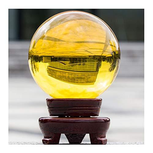 dhcsf Palla di Cristallo Topazio Trasparente Topazio Handmade Crystal Ball Feng Shui Divinazione Decorazione Palla Magic Ball Photography Ball