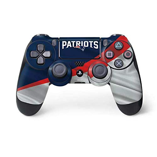 Skinit Decal Gaming Skin for PS4 Controller - Officially Licensed NFL New England Patriots Design