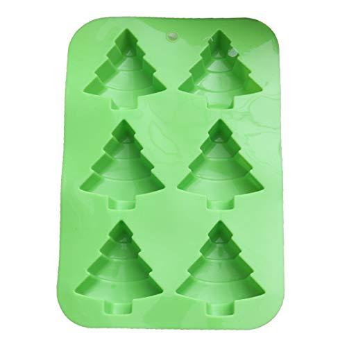 UPKOCH Stampo in Silicone di Natale Forma per Albero di Natale stampi per Dolci da Forno stampi per Fondente Sapone al Cioccolato Stampo per Gelatina per Decorazione Torta Fai da Te (Verde)