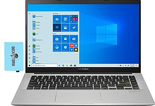 "ASUS Vivobook 14 Thin & Light Student Laptop (Intel i3-1005G1 2-Core, 4GB RAM, 128GB SSD, Intel HD 610, 14.0"" Full HD (1920x1080), WiFi, Bluetooth, Webcam, 1xUSB 3.1, 1xHDMI, Win 10 Home) w/Hub"