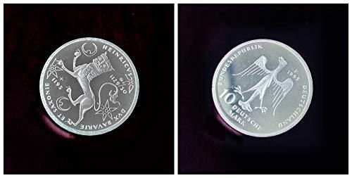 Deutschland (1995) 10 DM Silbermünze - 800. Todestag Heinrichs des Löwen, 625er Silber (Spiegelglanz, PP, Proof)