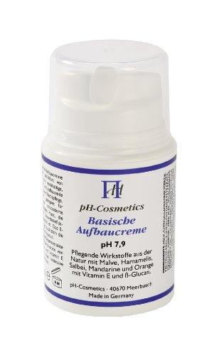 Aufbaucreme, basisch, pH 7, 9, ph-Cosmetics, Basen Creme die aufbaut, Tagescreme und Nachtcreme, 50 ml