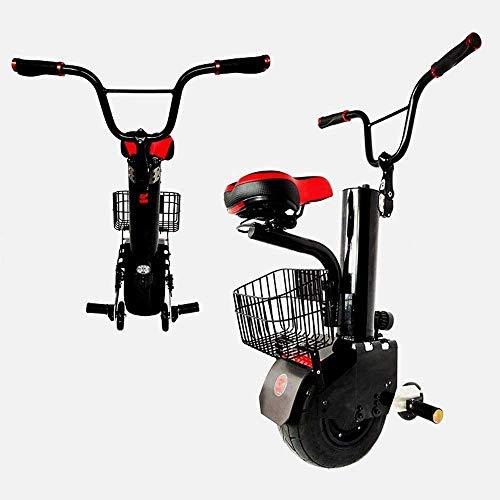 JILIGUALA Elektro-Einrad 11inch 500W Big Tire Einrad Außen EIN Rad Selbst Balancing Elektroroller Einrad für Erwachsene, Schwarz (Größe, 45 km),30KM