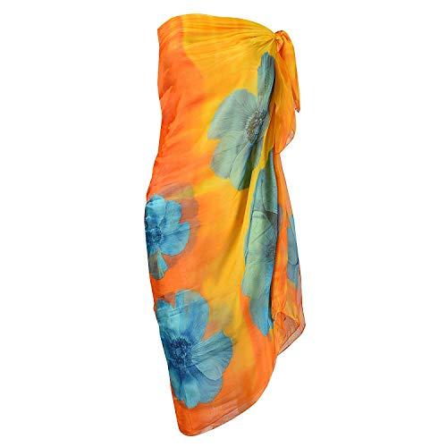 UK_Stone Damen Übergroesse Modisch Sarong Pareo Strandtuch Wickeltuch Bikini Sonnenschutz Decke Cover-up (4#)