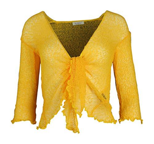 Ozmoint Damen Strickjacke, einfarbig, super dehnbar, Einheitsgröße Gr. One size, Sonnenblume oder Senf