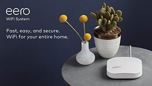 Amazon eero Pro mesh WiFi system (1 Pro + 2 Beacons) 18 Whole-home WiFi system - The Amazon eero Pro mesh WiFi system (3 eero Pros) replaces the traditional WiFi router, WiFi extender, and internet booster by covering a 5+ bedroom home with fast and reliable internet powered by a mesh network. eero 2nd generation - With the most intelligent mesh WiFi technology and powerful hardware, the eero 2nd generation WiFi system is 2x as fast as the original eero WiFi. Backwards compatible with 1st generation eero products. Cutting edge home WiFi - Unlike the common internet routers and wireless access points, eero automatically updates once a month, always keeping your home WiFi system on the cutting edge.