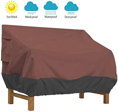 Fundas protectoras para sofá de 2 plazas, para exteriores, resistente al viento, tela Oxford anti U76 x 32.5 x 33 pulgadas, color marrón 193 x 83 x 84 cm.