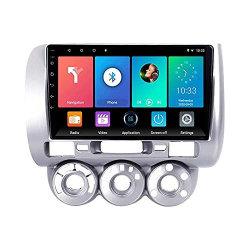 Android 10.0 Autoradio Stereo 1 Din per H-onda Fit Jazz 2004-2007 Navigazione GPS IPS Touchscreen Lettore multimediale MP5 Ricevitore video con 4G WiFi SWC USB Carplay