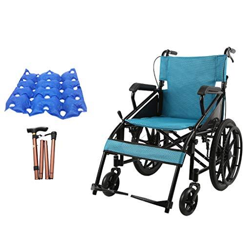GSS-Rollstühle Faltbarer Und Selbstfahrender Rollstuhl Abnehmbare Armlehne Und Fußstütze Sitzbreite 70 cm Maximales Zulässiges Gewicht 100 Kg