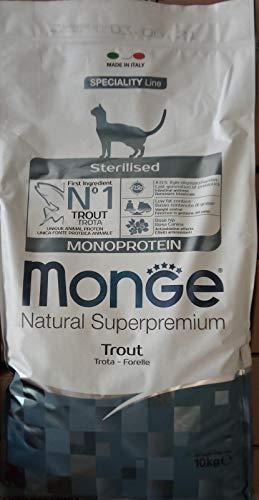 Monge Gatto Natural Superpremium Sterilised Monoprotein con Trota 10 kg