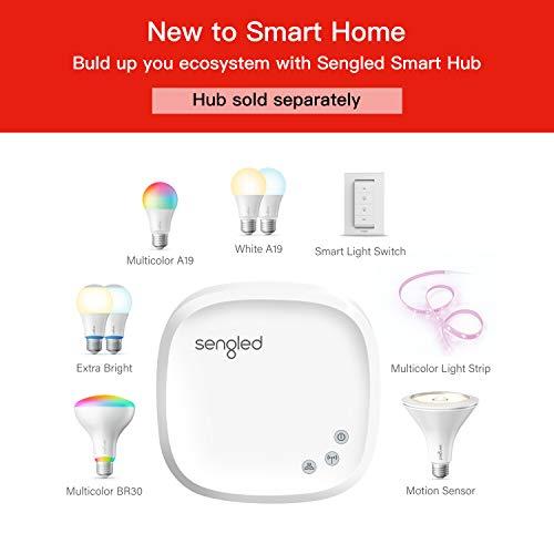 Sengled Smart Light Bulb, Smart Bulbs that work with Alexa, Google Home (Smart Hub Required), Smart Bulb A19 Alexa Light Bulbs, 800LM Soft White (2700K), A19 Dimmable, 9W (60W Equivalent), 4 Pack